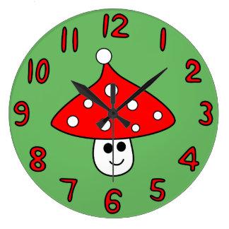 Santa Hat Mushroom Clock