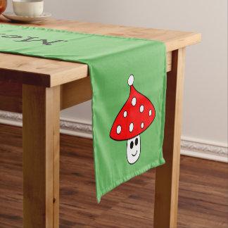Santa Hat Mushroom Table Runner