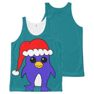 Santa hat Penguin shirt