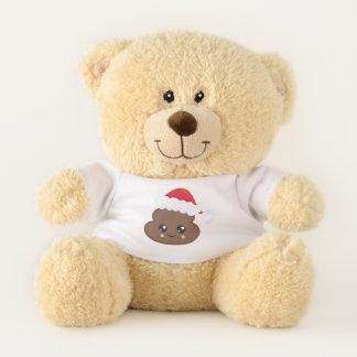 Santa Hat Poop Emoji Christmas Teddy Bear