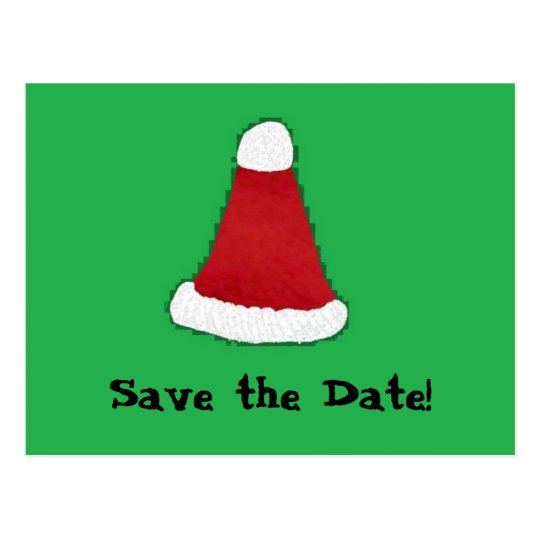 Santa Hat, Save the Date! Postcard