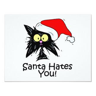 Santa Hates You Personalized Invitation