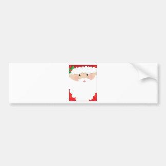 Santa Head Frame Bumper Sticker