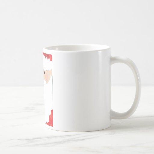 Santa Head Frame Coffee Mug