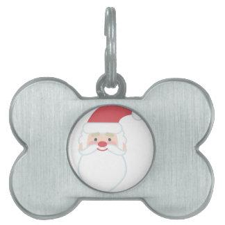 Santa Head Pet Name Tags