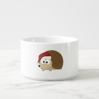 Santa hedgehog chili bowl