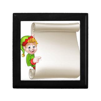Santa Helper Elf Christmas Scroll Gift Box