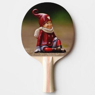 Santa helper - happy christmas - gnome ping pong paddle