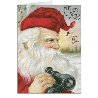 "Santa, ""He's Looking for You!"" Card"