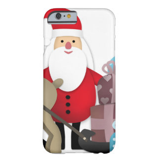 Santa & His Reindeer with Gifts Barely There iPhone 6 Case