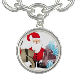 Santa & His Reindeer with Gifts Bracelet
