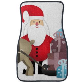 Santa & His Reindeer with Gifts Car Mat
