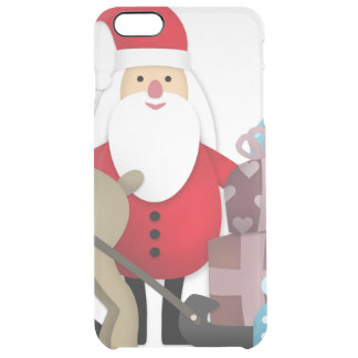 Santa & His Reindeer with Gifts Clear iPhone 6 Plus Case