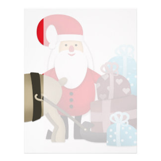 Santa & His Reindeer with Gifts Customized Letterhead