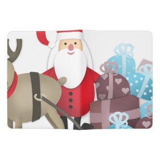 Santa & His Reindeer with Gifts Extra Large Moleskine Notebook