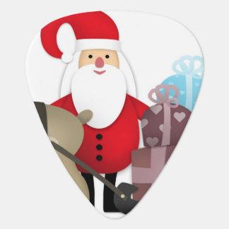 Santa & His Reindeer with Gifts Guitar Pick