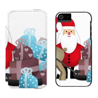 Santa & His Reindeer with Gifts Incipio Watson™ iPhone 5 Wallet Case