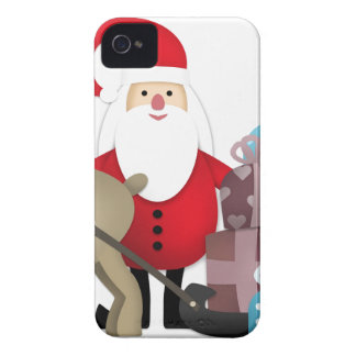 Santa & His Reindeer with Gifts iPhone 4 Case-Mate Cases