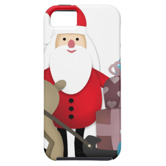 Santa & His Reindeer with Gifts iPhone 5 Covers