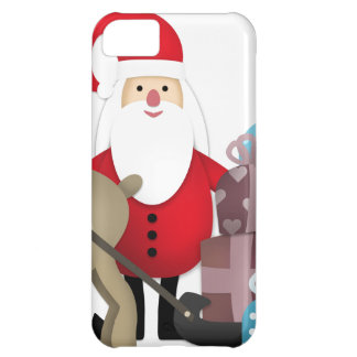 Santa & His Reindeer with Gifts iPhone 5C Covers