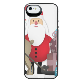 Santa & His Reindeer with Gifts iPhone SE/5/5s Battery Case