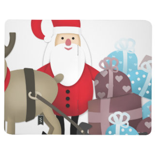 Santa & His Reindeer with Gifts Journal