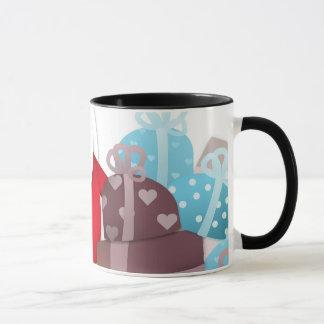 Santa & His Reindeer with Gifts Mug