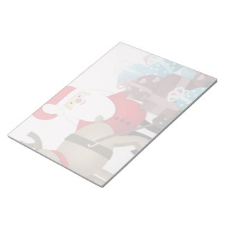 Santa & His Reindeer with Gifts Notepad