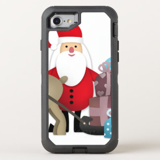 Santa & His Reindeer with Gifts OtterBox Defender iPhone 8/7 Case