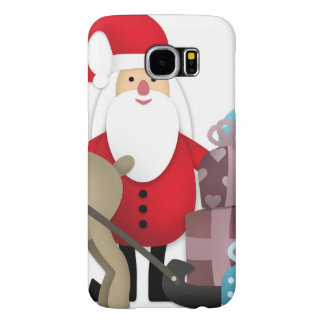 Santa & His Reindeer with Gifts Samsung Galaxy S6 Cases
