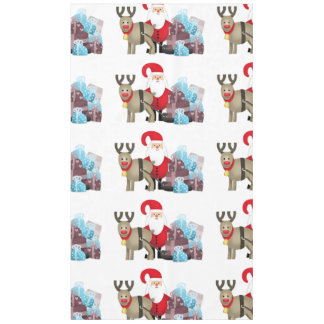 Santa & His Reindeer with Gifts Tablecloth