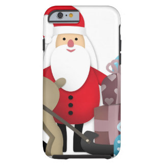 Santa & His Reindeer with Gifts Tough iPhone 6 Case