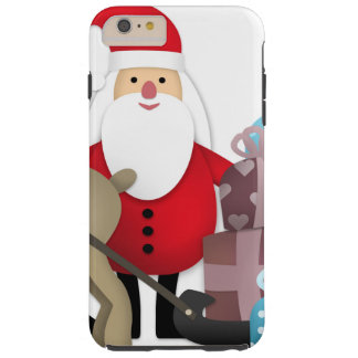 Santa & His Reindeer with Gifts Tough iPhone 6 Plus Case