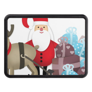 Santa & His Reindeer with Gifts Trailer Hitch Cover