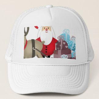 Santa & His Reindeer with Gifts Trucker Hat