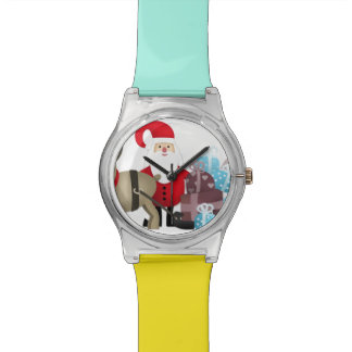 Santa & His Reindeer with Gifts Watch