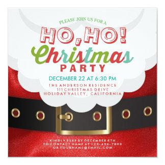 Santa Ho Ho Christmas & New Year Party Invitation