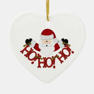 Santa Ho Ho Ho Ceramic Ornament