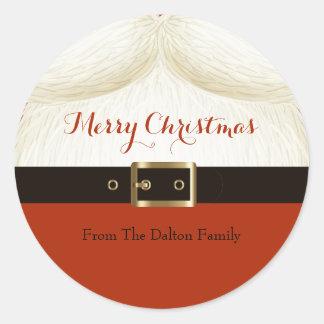 Santa, Ho Ho Ho Classic Round Sticker