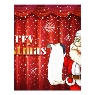 Santa holding a list customized letterhead