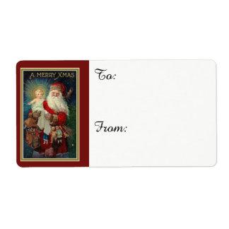 Santa holding the Baby Jesus