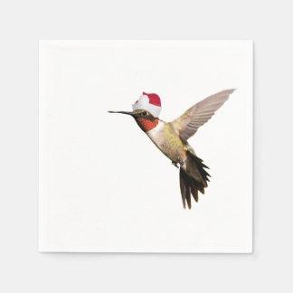 Santa Hummingbird Disposable Napkins