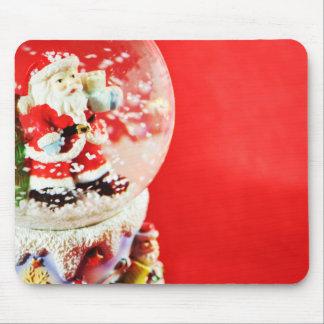 Santa in a crystal globe mouse pad