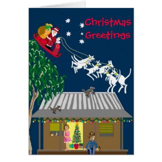 Santa in Australia Card