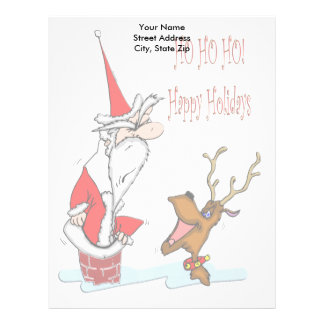 Santa in Chimney Christmas Letterhead