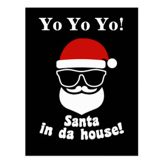 Santa In Da House Postcard