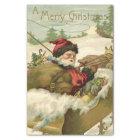 Santa in his Sleigh Tissue Paper