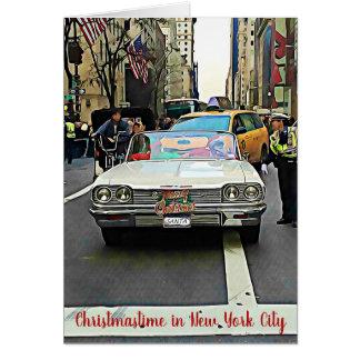 Santa in New York City Christmas Card