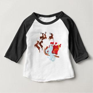 Santa in Sleigh Baby T-Shirt