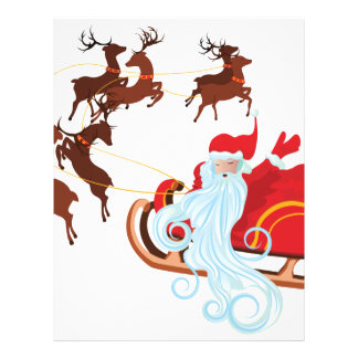 Santa in Sleigh Customized Letterhead